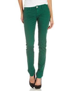 Skinny leg jeans.
