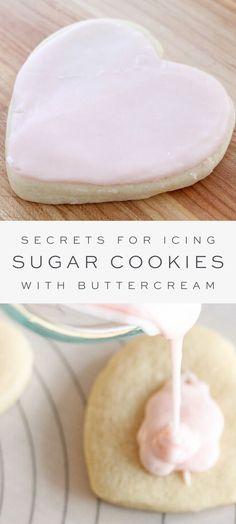 Iced Sugar Cookie Recipe, Best Sugar Cookie Icing, Cookie Frosting Recipe, Homemade Sugar Cookies, Iced Sugar Cookies, Frosting Recipes, Cookie Recipes, Simple Sugar Cookies, Sugar Cookies Recipe With Royal Icing