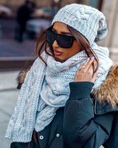 Luxusný dámsky set čiapka a šál sivý Winter Hats, Outfit, Fashion, Clothes, Moda, Fasion, Trendy Fashion, Outfits, La Mode