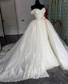 7658ca2cf4 Sexy Sweetheart Lace Mermaid Wedding Dresses Removable Train Sweetheart Wedding  Dress, Sexy Wedding Dresses,