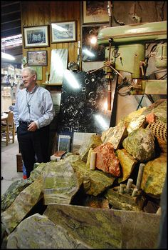 Connemara Marble Factory--only place where green marble is mined.  I went there.  I met that man.  !!!!!!