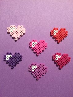 heart perler beads by kandhproductions on Etsy