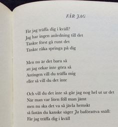 får jag - säkert! Quotes And Notes, Words Quotes, Sayings, Love Quotes, Some Words, More Than Words, Love Thoughts, My Emotions, Different Quotes
