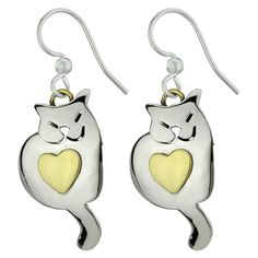 Kitty Love Earrings - Every Purchase Funds Food and Care for Rescued Animals.