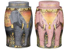 Williamson Tea... Elephant Tin Cans! Would love to keep my tea in that..