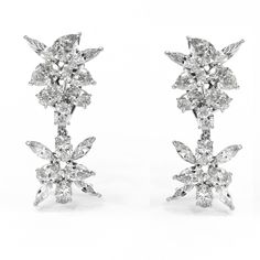 057cd2491 8.61ctw JeanShevy Detachable Marquise, Pear, Oval Diamond Earrings in  Platinum