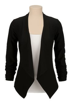 Long sleeve Open front Blazer (original price, $49) available at #Maurices
