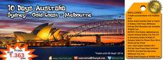 Yuk habiskan liburan Anda dengan jalan – jalan ke 3 kota populer di #Australia. Kini tersedia paket 10 hari #Sydney - #Gold #Coast - #Melbourne dengan harga terjangkau lho. Yuk buruan booking sebelum kehabisan!  Dapatkan Spesial Paket tersebut dari #LiburYuk http://liburyuk.com/promotional-package/book/843715204/10-days-sydney---gold-coast---melbourne #AbbeyTravel #jalan2 #holiday