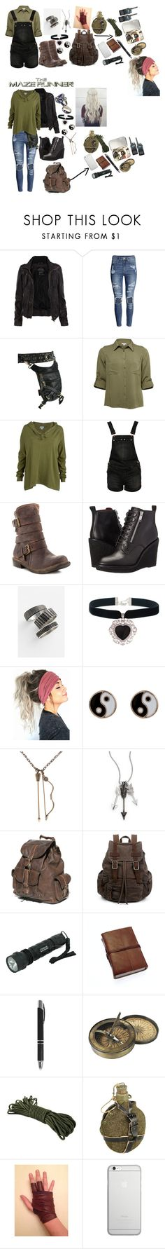 """""""Another nother one!"""" by heyimryann ❤ liked on Polyvore featuring AllSaints, H&M, Holster, RVCA, Noisy May, Zigi Soho, Marc by Marc Jacobs, Bonnie Jonas, Anello and Accessorize"""