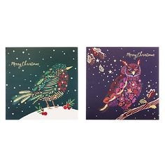Buy John Lewis Foliage Birds Charity Christmas Card, Pack of 10 from our Christmas Cards range at John Lewis & Partners. Christmas Card Packs, John Lewis, Charity, Packing, Birds, Watercolor, Prints, Stuff To Buy, Inspiration