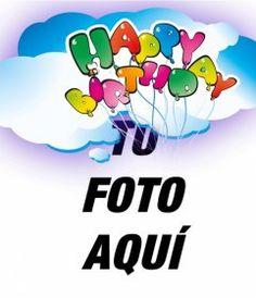 Tarjeta de cumpleaños con marco de fotos rojo, globos y pasteles para - Fotoefectos Birthday Wishes With Photo, Happy Birthday Pictures, Maria Jose, Aurora, Samsung, Fitness, Birthday Wishes, Happy Birthday Text, Happy Birthday Photos