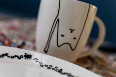 Geschenkidee: DIY Cat Mug - Porzellanmalen für Hipster - Deli From The Valley
