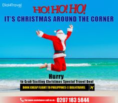 Hurray it's Christmas around the corner and it's the right time to get the to Make your full of fun at Philippines. Book at at: 0207 183 5844 Best Airfare Deals, Cheap Flight Deals, Book Cheap Flights, Around The Corner, Philippines, Books, Christmas, Fun, Travel