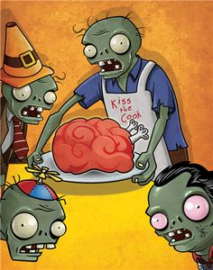 Plants vs. Zombies Wall Graphics from Walls 360: Plants vs. Zombies: Zombie Dinner Party Vertical