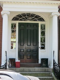 Chestnut St, Salem, MA - third door panel to open for caskets and wide skirts