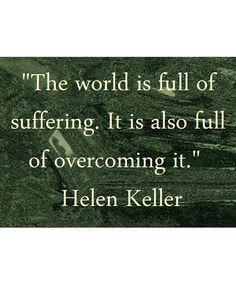 Will you suffer or will you overcome?