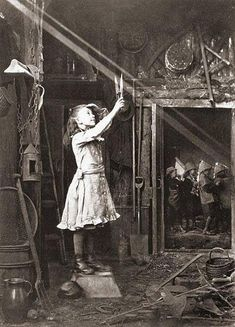 Child trying to cut a sunbeam, 1886