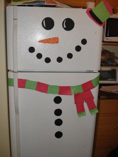 Turned my fridge into a snowman :)
