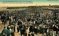Florida East Coast Railway first Key West Train 1912 - Overseas Railroad - Wikipedia