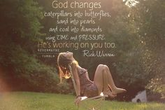 God changes...