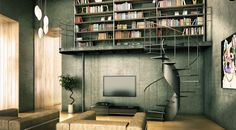 A tad too modern for my tastes, but I love the concept... keep the living space but use the vertical