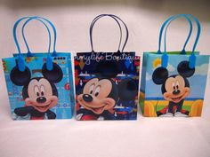 12 Lot MICKEY MOUSE Party Favors Bags Goodie by InMyLifeBoutique