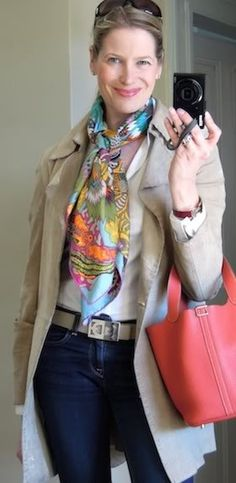 MaiTai's Picture Book: Scarf it up - a touch of spring colors with Fleurs d'Indiennes