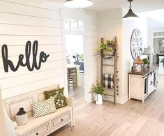 Hello Word Wood Cut Wall Art Sign Large Statement Entryway Living room business Decor This word hello is perfect for your mantel,kitchen, living room, or on your porch or patio. Living Room Remodel, Home Living Room, Living Room Designs, Kitchen Living, Cottage Style Living Room, Apartment Living, Diy Home Decor For Apartments, Foyer Decorating, Living Room Decorating Ideas