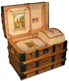Martin maier dome top restored antique trunk for sale 336 for Things that are worth a lot of money
