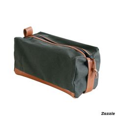 Pine Canvas and Leather Dopp Kit