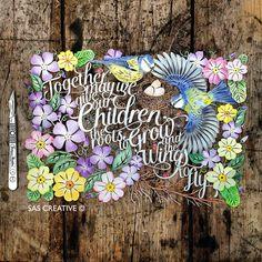 Samantha's Papercuts: New Style Coloured Papercut