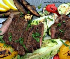Grilled Salad with Skirt Steak. Fresh ingredients transform on the grill. You will not be disappointed. #ChooseDreams #WeekdaySupper
