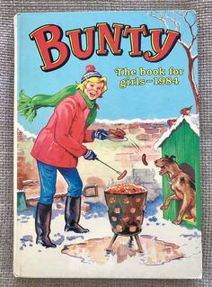 Excited to share this item from my #etsy shop: Bunty annual 1984. Classic Girl, Picture Story, Vintage Children's Books, Book Girl, Toot, Uk Shop, Paper Dolls, Book Worms, Childrens Books