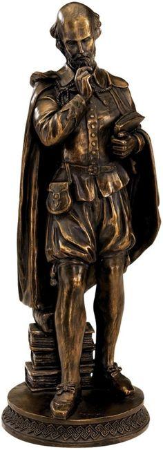 Design Toscano Pondering Shakespeare Figurine in Faux Bronze