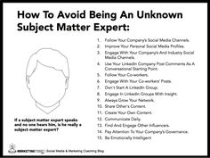 What Are 15 Simple Tips To Avoid Being An Unknown Subject Matter Expert? #infographic