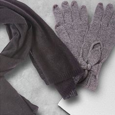 Add cashmere scarves and gloves for touches of luxe all season long.