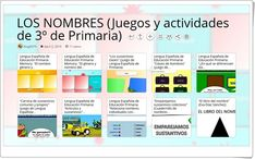 """games and activities for learning NAMES in of Primary"""" - Learn Spanish Spanish Language, Learning Spanish, Losing You, Bar Chart, Games, Texts, Teaching Resources, Names, Learning"""