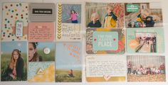 Pages created by Rhonda Steed featuring the Midnight Edition, Dazzle Mini Kit