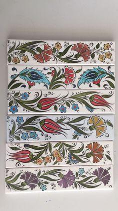 Pin by Şenay ceyda ceylan on Tezhip Turkish Tiles, Turkish Art, Islamic Tiles, Islamic Art, Pottery Painting, Ceramic Painting, China Painting, Fabric Painting, Turkish Design