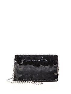 Prada Paillete Black Evening Clutch -  1,700.00 Saks Fifth Avenue,  Crossbody Bag, Prada, d5af2627640