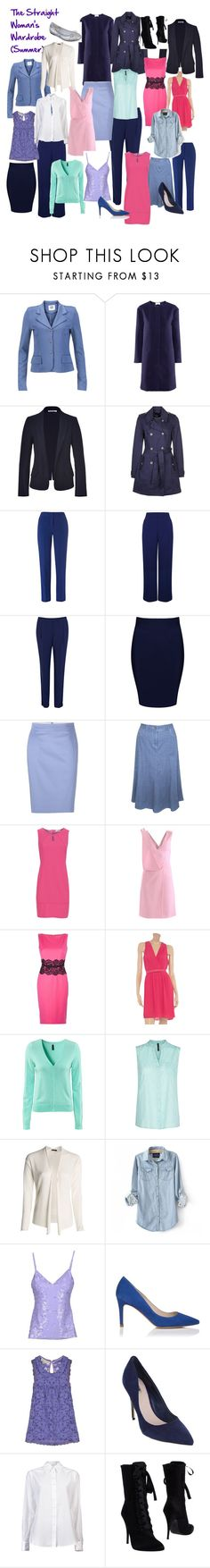 """""""The Straight Shaped Woman's Wardrobe (Summer)"""" by l-edwards ❤ liked on Polyvore featuring Vero Moda, H&M, Jil Sander, even&odd, Hobbs, Minuet, River Island, Boohoo, Paul Smith and Dash"""