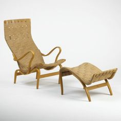 BRUNO MATHSSON    lounge chair and ottoman    Sweden
