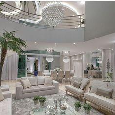 Construindo Minha Casa Clean: Tour Sala: Meu Lustre de Cristal Sob Medida!