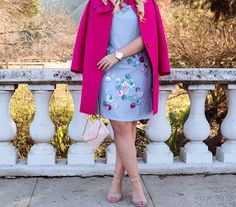 Im showing you how to wear color in winter with this adorable Kate Spade bow coat! See more details at lizzieinlace.com