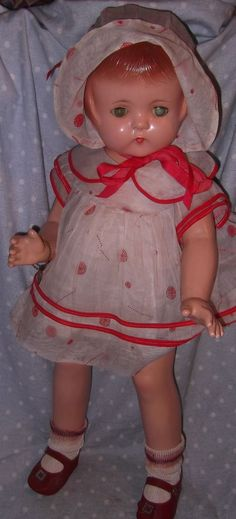 Effanbee Factory Orig. Patsy Lou Composition Doll w/ Box, All Original