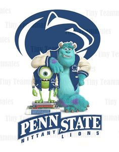 Monsters University Penn State I love this State College, College Life, College Football, Alma Mater, Monsters Inc Characters, College Checklist, Lion Pride, Nittany Lion, Happy Valley
