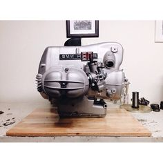 1975 BMW R90S - 4981241 - Production Date 04/1975 USA: I found this engine two years ago in Chula Vista, San Diego, literally right on the border of US and Mexico. This engine has been completely restored including minor performance upgrades; 320 sports camshaft, lightweight pistons, and a lightweight flywheel. The 5-speed gearbox is a late 1975 production. All new bearings and shifting springs, including a brand new OEM input-shaft that BMW Germany still provides. #BMW #bavariancafe…