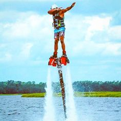 Dabbing while fly boarding? Try out your signature move with Hydrofly Watersports in Charleston, SC. Kayak Tours, Fishing Charters, Boat Rental, Pontoon Boat, Jet Ski, Concave, Dabbing, Wakeboarding, Paddle Boarding