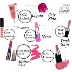 Cindy's Little Black Book — Tickled Pink - Best Pink Lipsticks - Drugstore & High End -  Obsessive Compulsive Cosmetics Lip Tar in Ophelia, Lime Crime, MAC Snob, MAC Lovelorn, Urban Decay, NYX Cosmetics