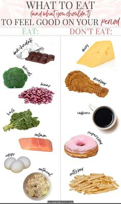Healthy Living Tips There are certain foods to eat on your period that can help you feel better physically and emotionally! Check out these 6 foods to eat-- and 4 to avoid-- to feel great during the time of month. Matcha Benefits, Coconut Health Benefits, Health And Wellness, Health Fitness, Holistic Nutrition, Healthy Nutrition, Nutrition Guide, Healthy Vag, Nutrition Chart
